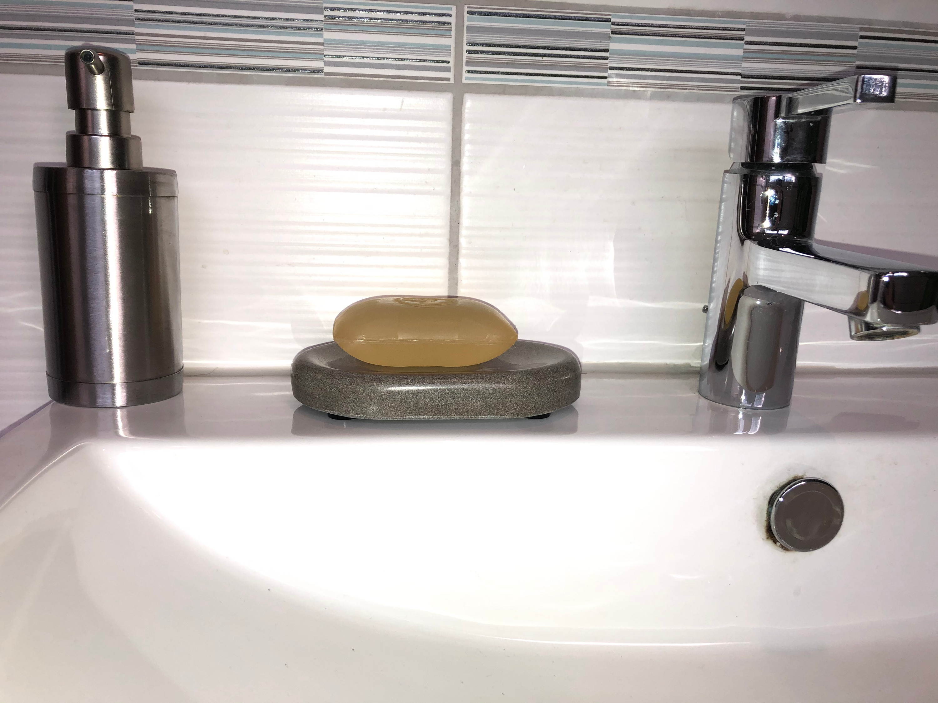 Soap Dish Made Of Ruhr Sandstone, German Made Bathroom Accessories