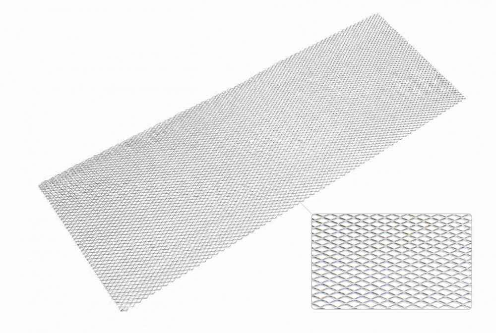 TA Technix Renngitter 135 x 30cm/6 x 12mm, Alu silber- eloxiert