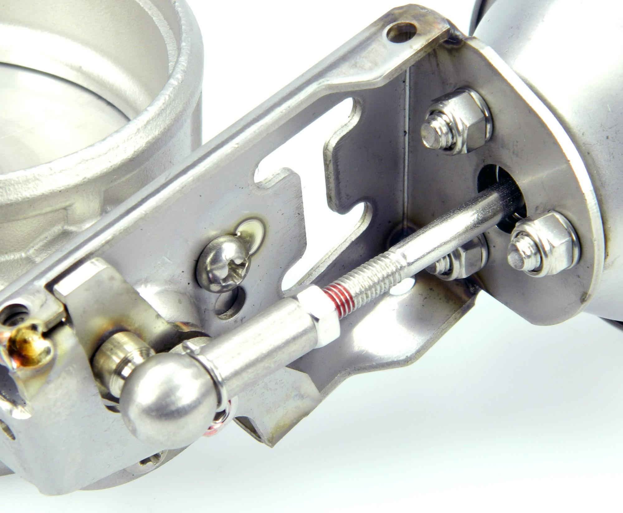 Auspuffklappe 76mm - Unterdruck gesteuert - Komplettsystem