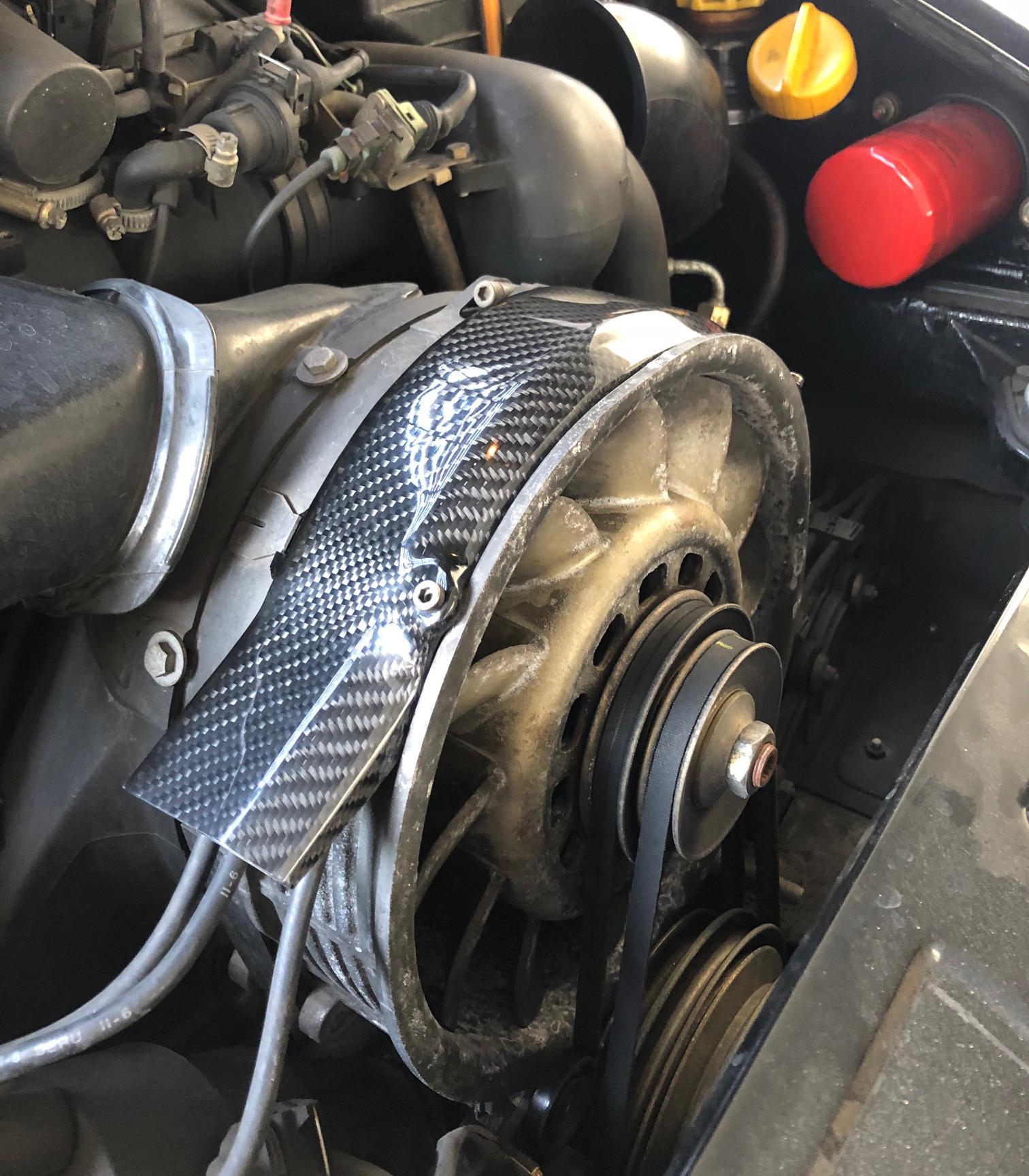 Carbon Abdeckung für Lüfterrad - Porsche 964