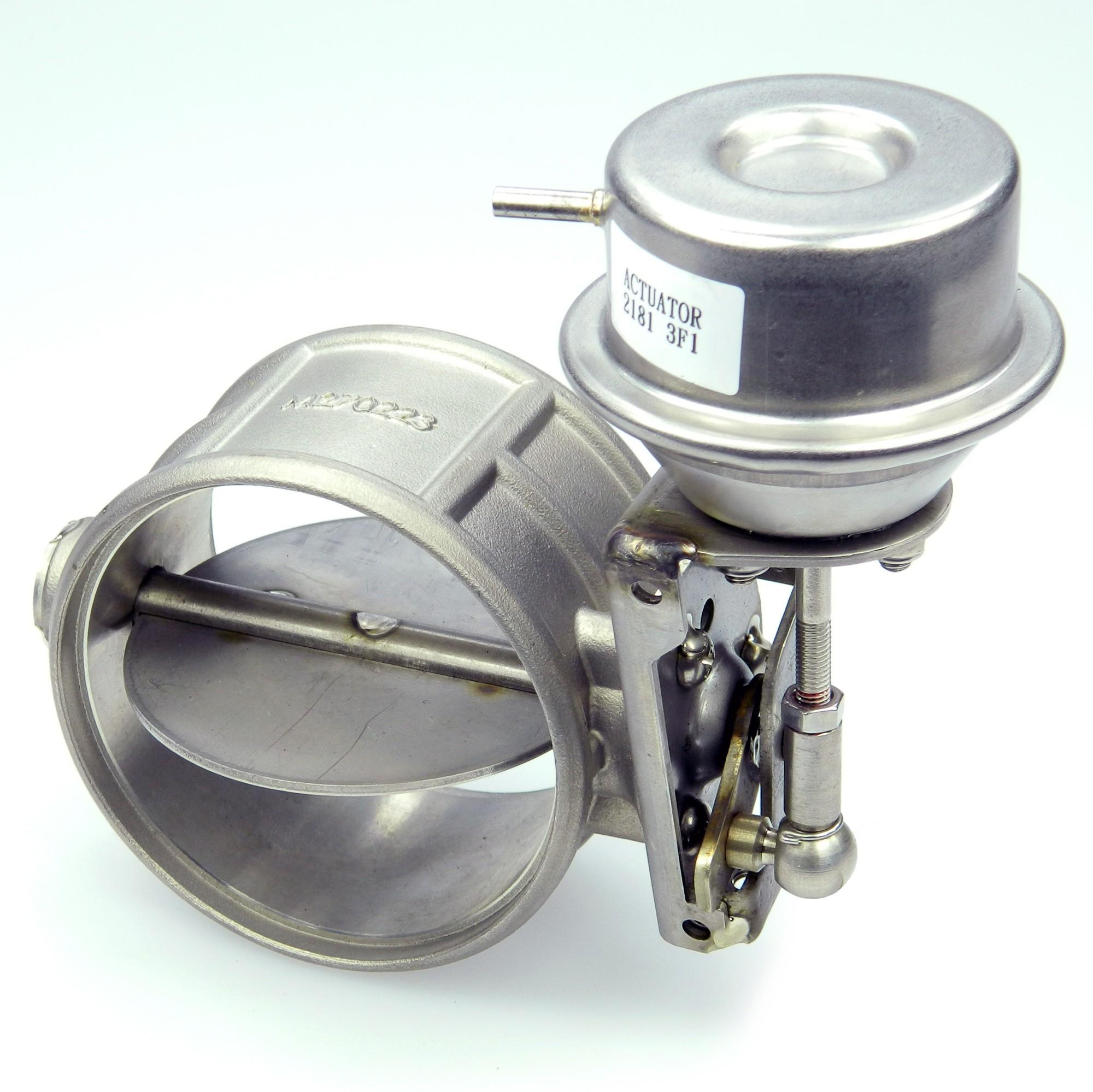 Komplettsystem Mit Druckbehälter Abgasklappe 70mm Unterdruck Gesteuert