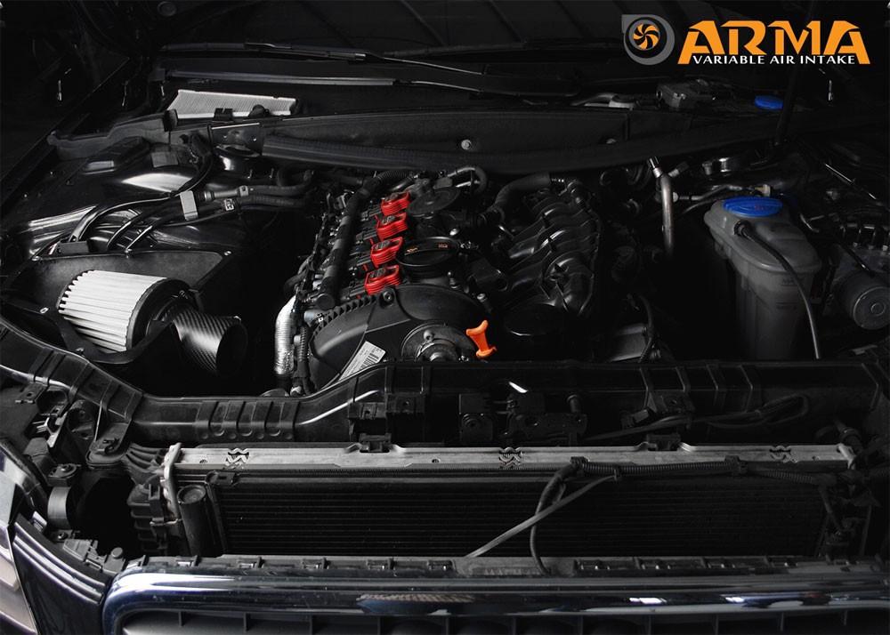 ARMA Carbon Airbox Variable Air Intake Audi A4 B8 2.0T