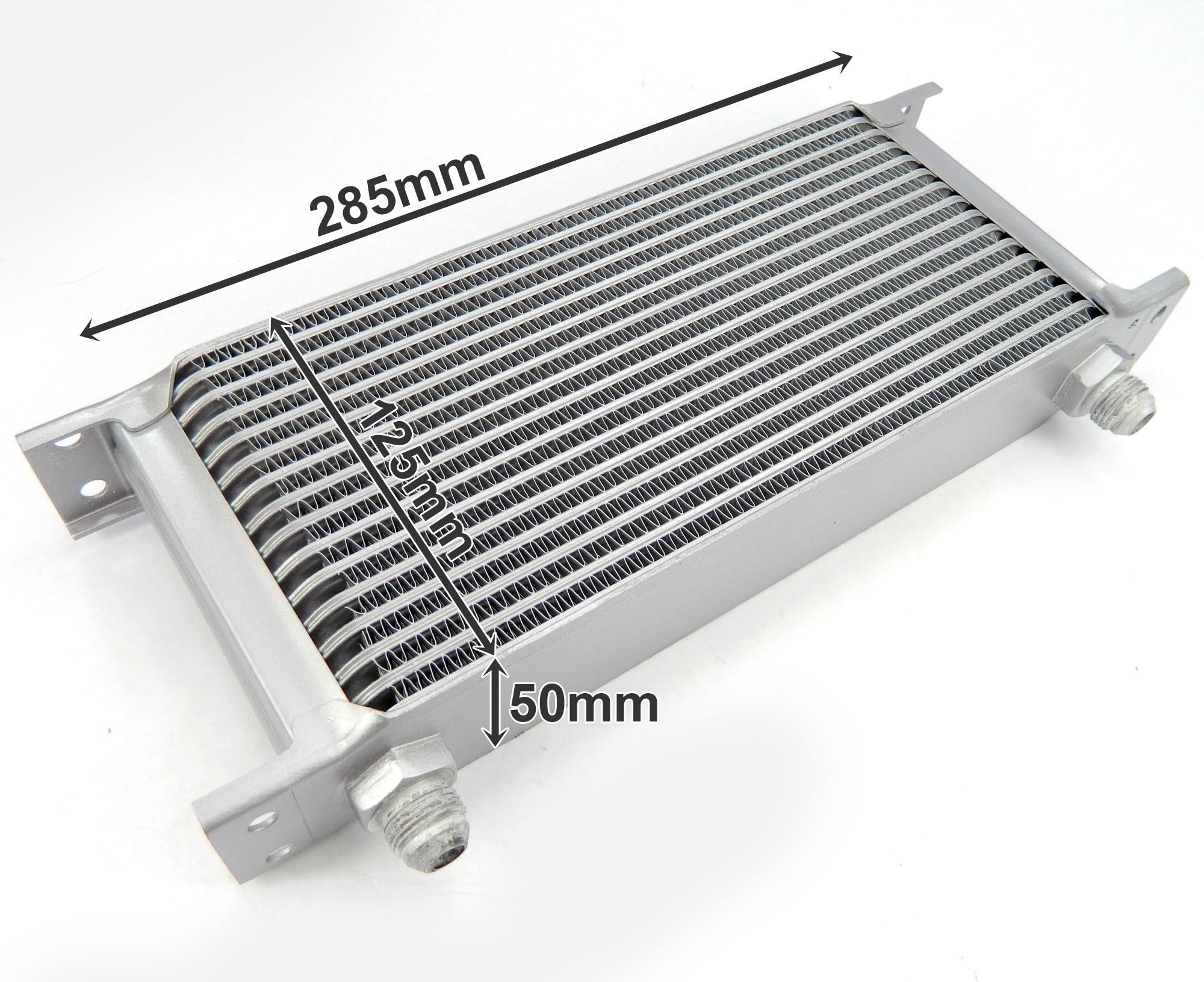 Aluminium Ölkühler Anschlussset 16 Rippen universell
