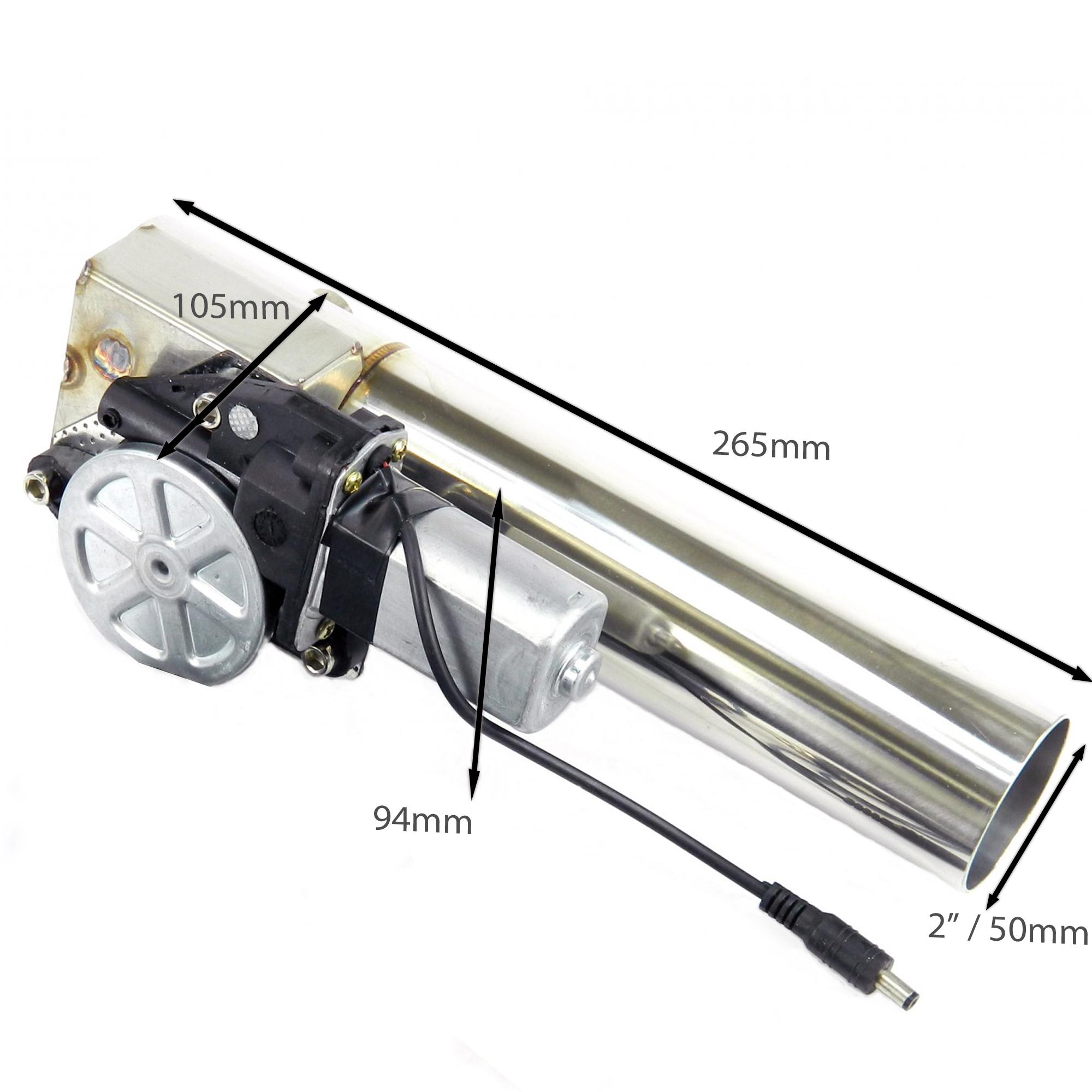 Klappenauspuff-System aus Edelstahl, elektrisch inkl. Fernbedienung - 50mm Außendurchmesser