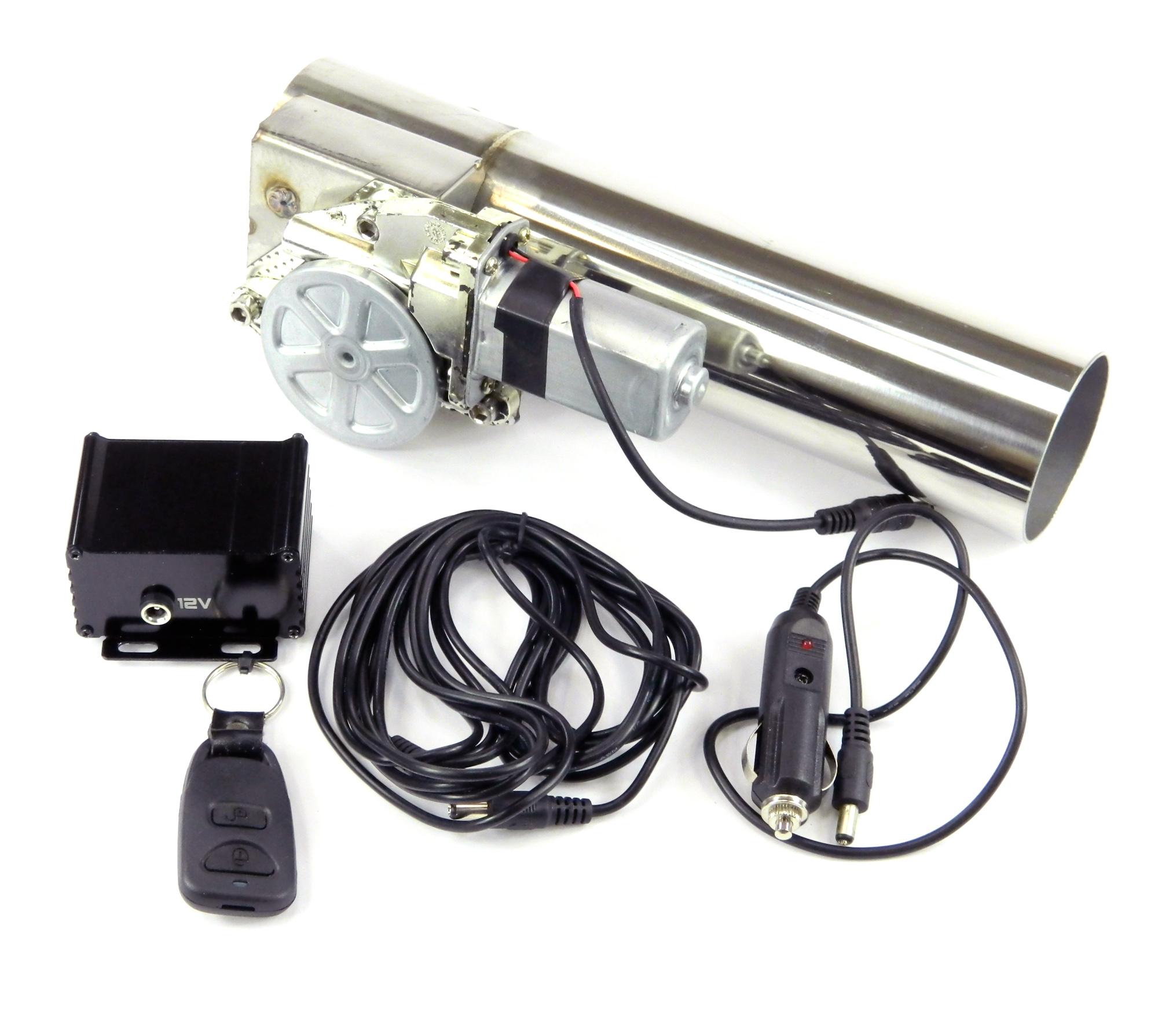 Klappenauspuff-System aus Edelstahl, elektrisch inkl. Fernbedienung - 63mm Außendurchmesser