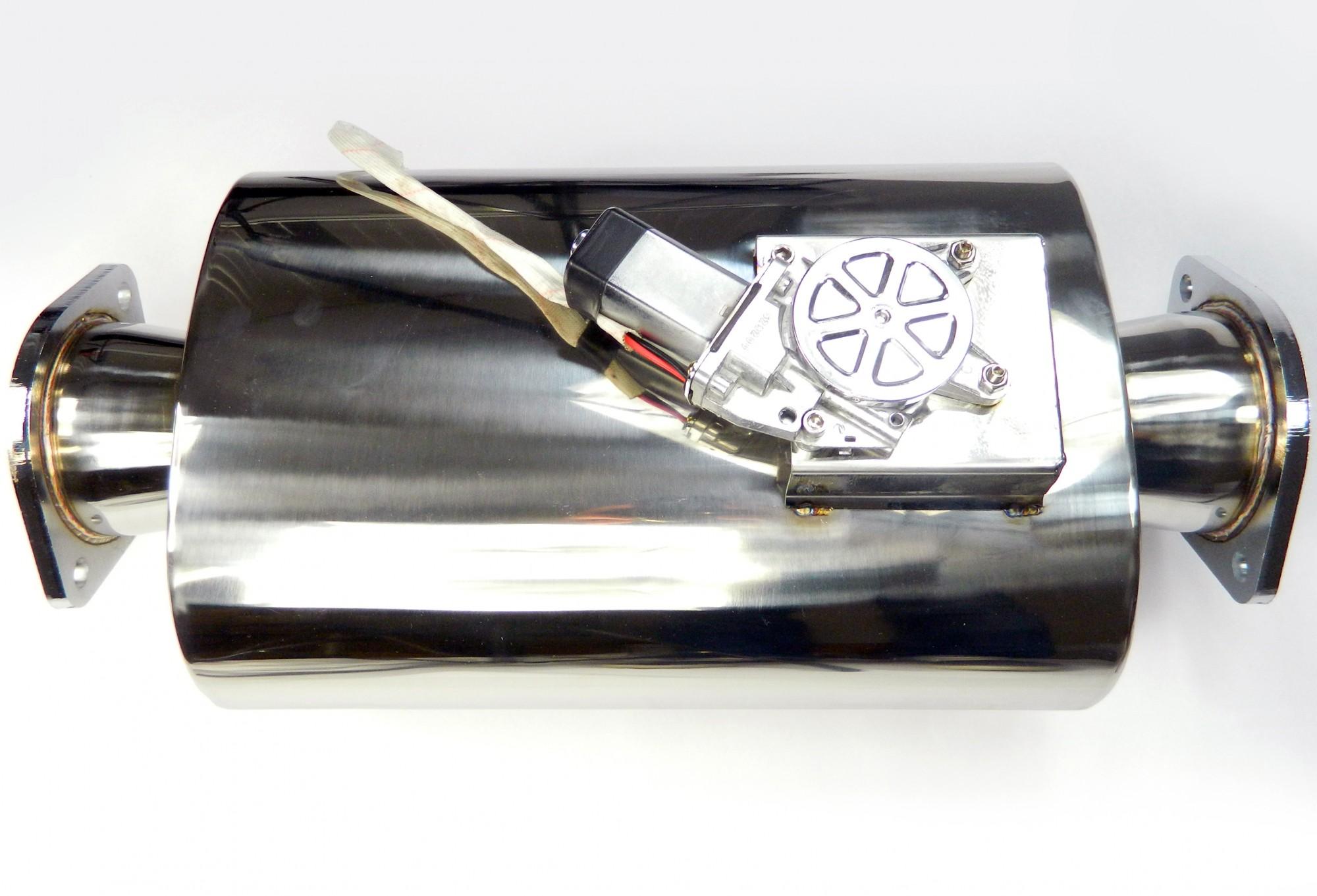 """3"""" 76mm Klappenauspuff Klappen-Schalldämpfer mit integrierter Auspuffklappe"""
