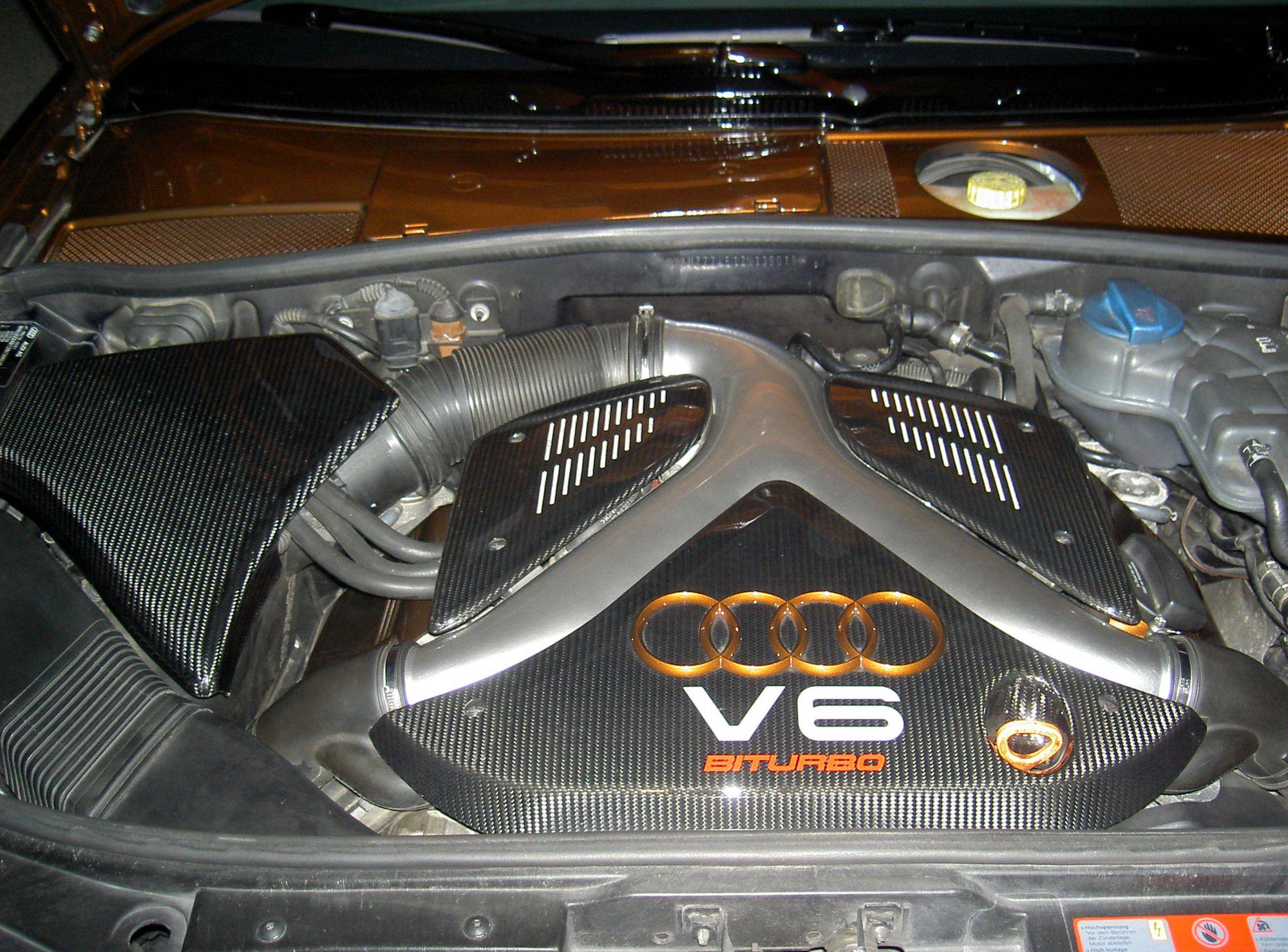 Echt-Carbon große Abdeckung Servo-Öl-Behälter - Audi A4 S4 2.7T