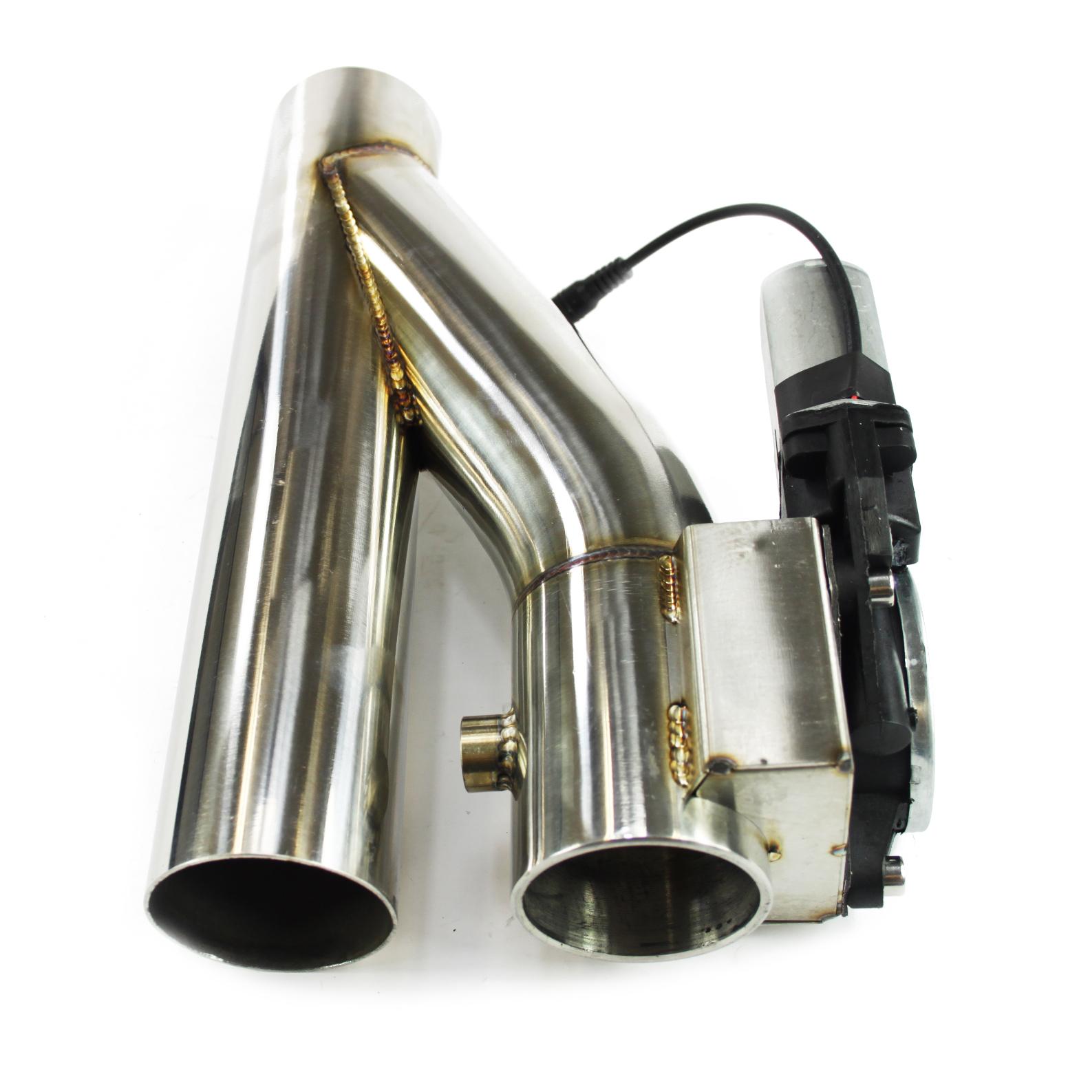 Klappenauspuff-System aus Edelstahl Y-Rohr, elektrisch inkl. Fernbedienung - 55mm Außendurchmesser