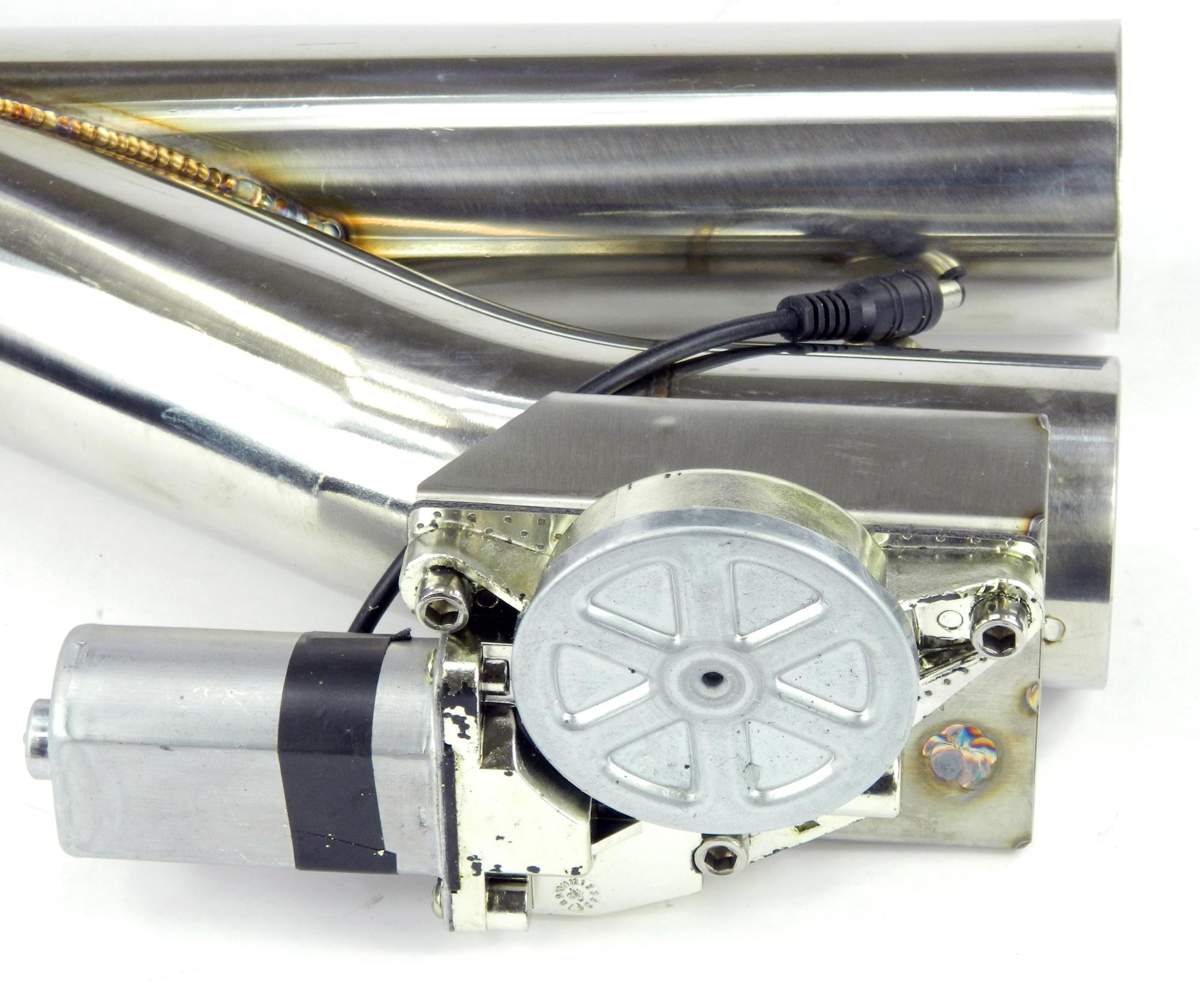 Duales Klappenauspuff-System Y-Rohr, elektrisch inkl. Fernbedienung - 57mm Außendurchmesser