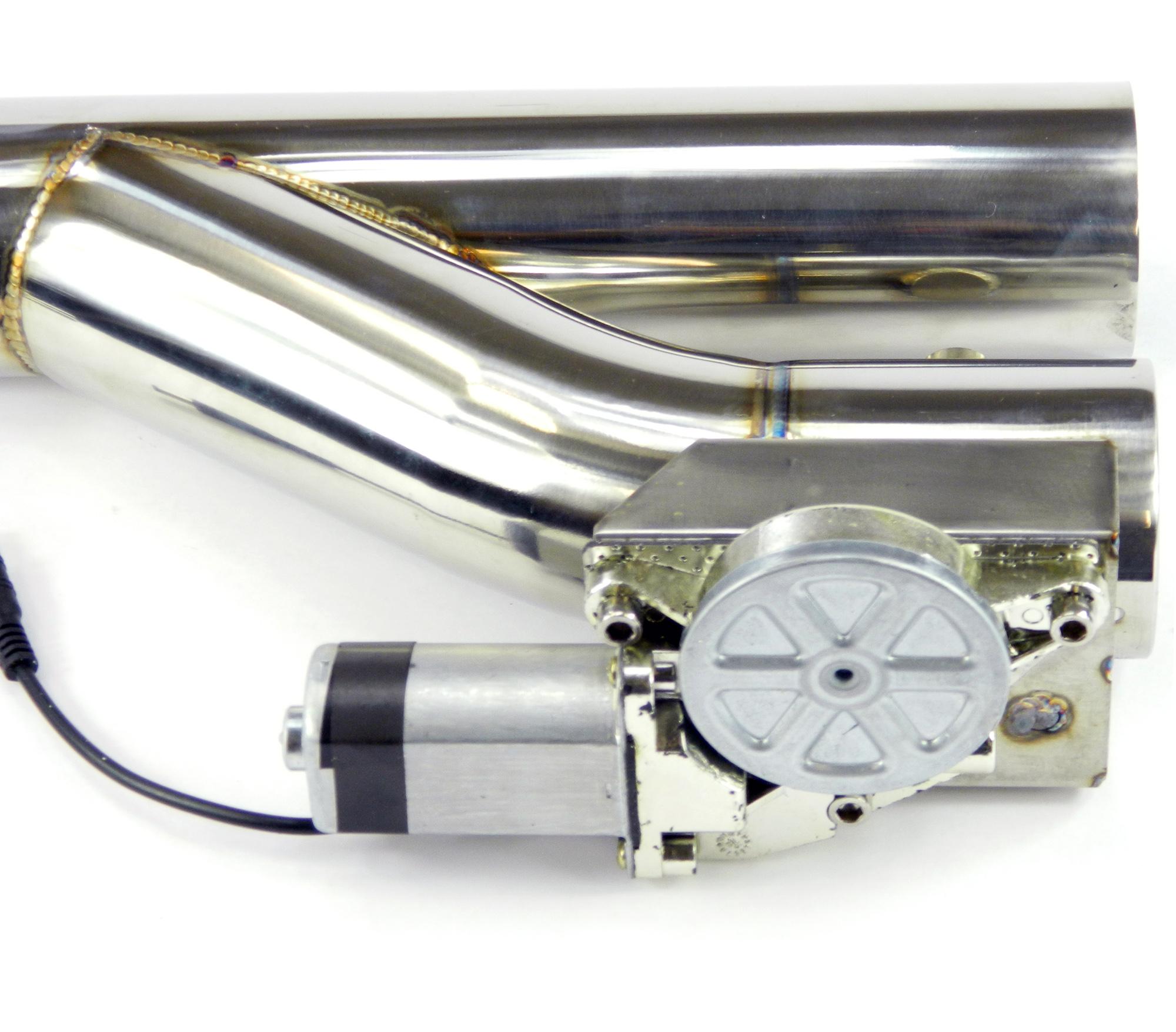 Duales Klappenauspuff-System Y-Rohr, elektrisch inkl. Fernbedienung - 63mm Außendurchmesser