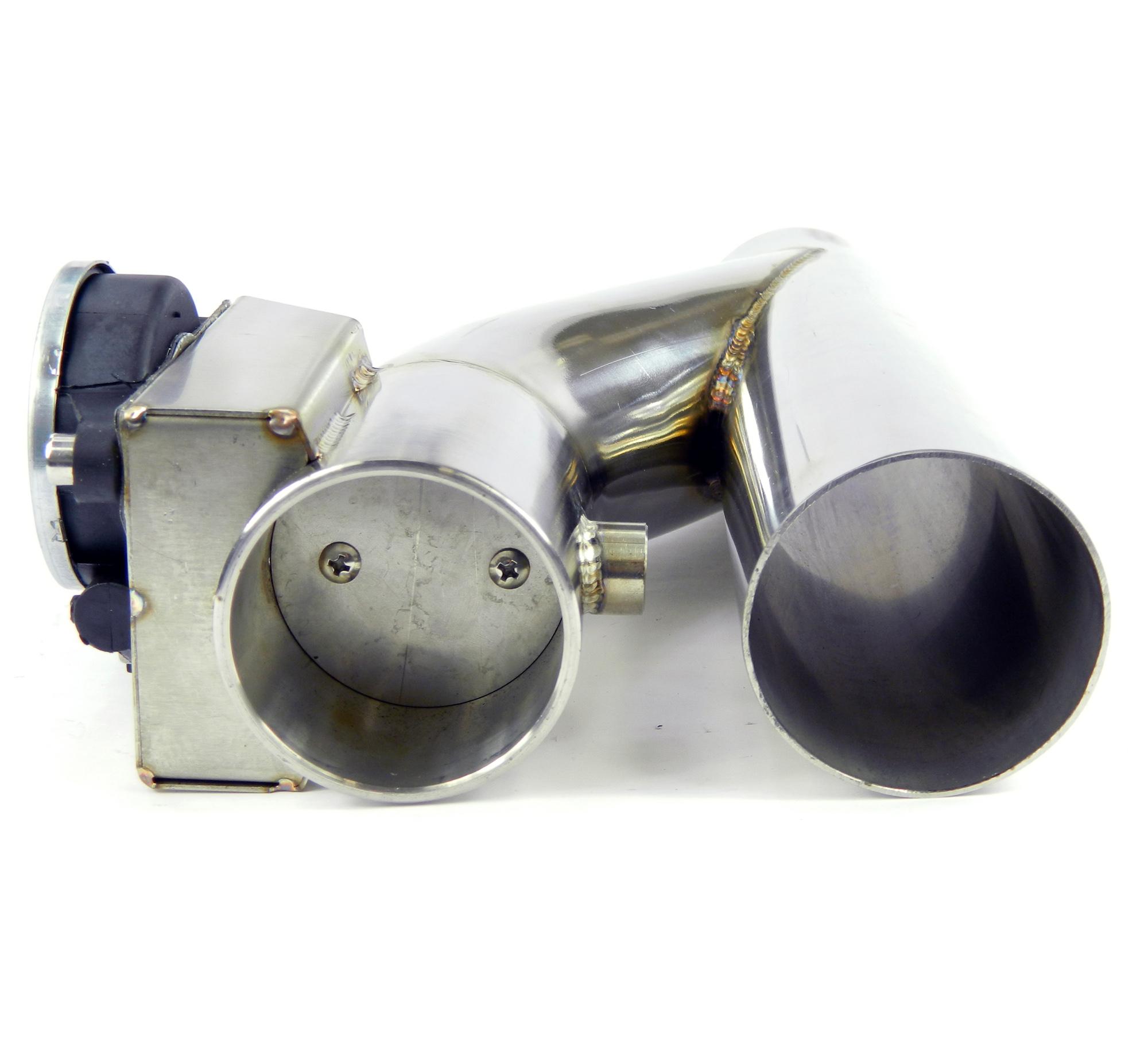 Klappenauspuff-System Y-Rohr, elektrisch inkl. Schalter - 57mm Außendurchmesser