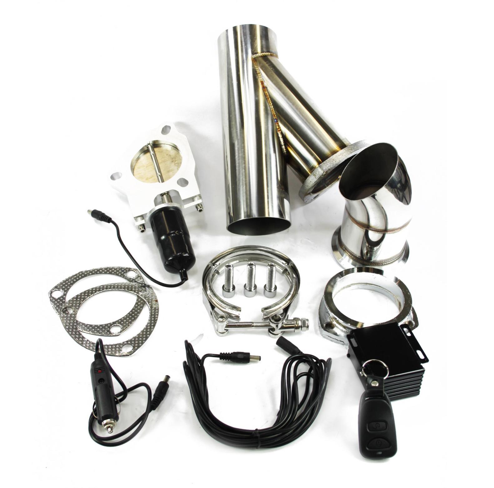 Klappenauspuff-System mit Zusatzrohr, elektrisch inkl. Fernbedienung - 76mm Außendurchmesser
