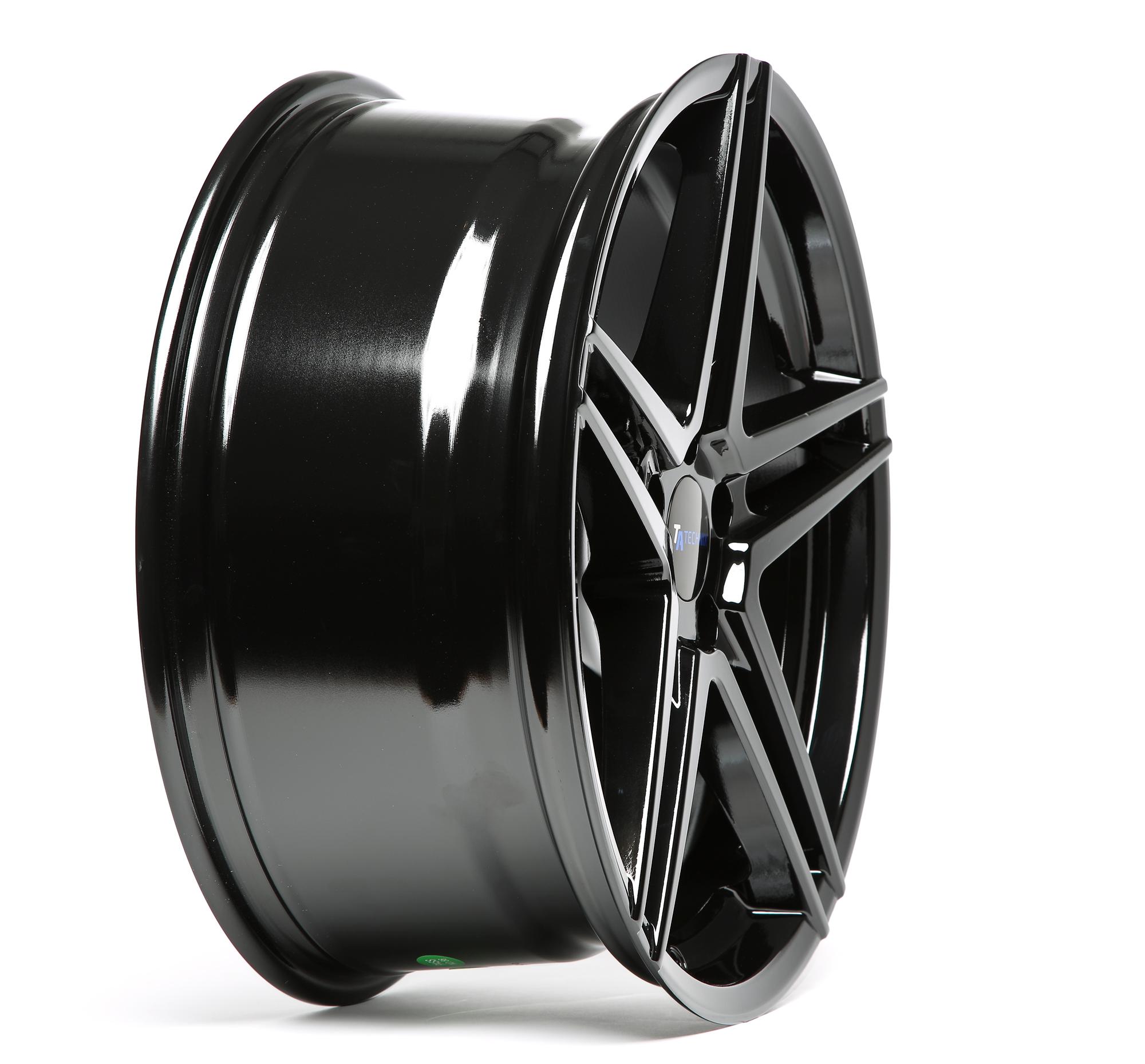 4x TA Technix Alufelge Felge 8,5x19 ET35 LK5x112 NLB 66,6 Bright Black Schwarz