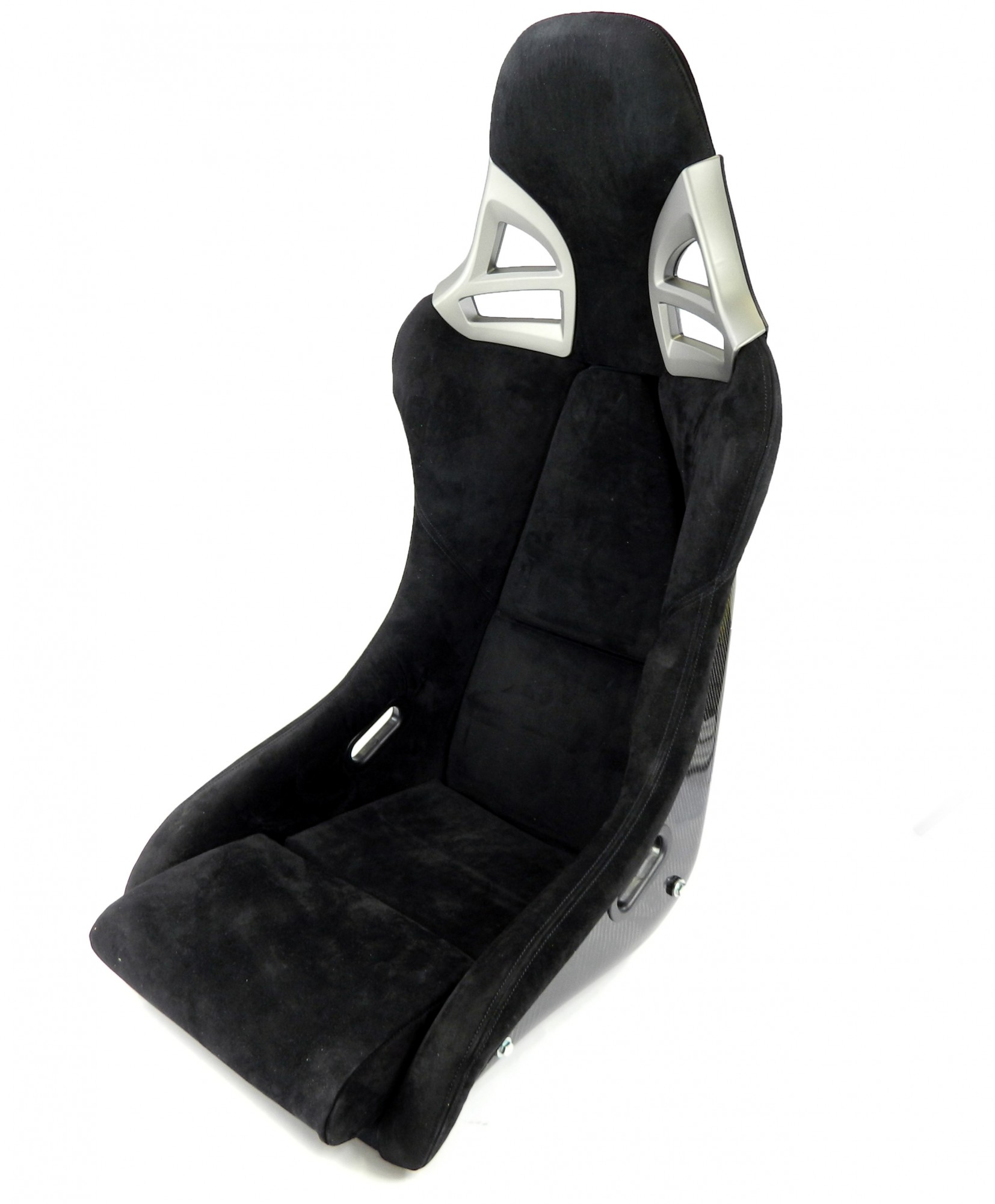 2x Carbon Sportsitz 997-GT3-Optik Alcantara schwarz + Konsole & Laufschiene