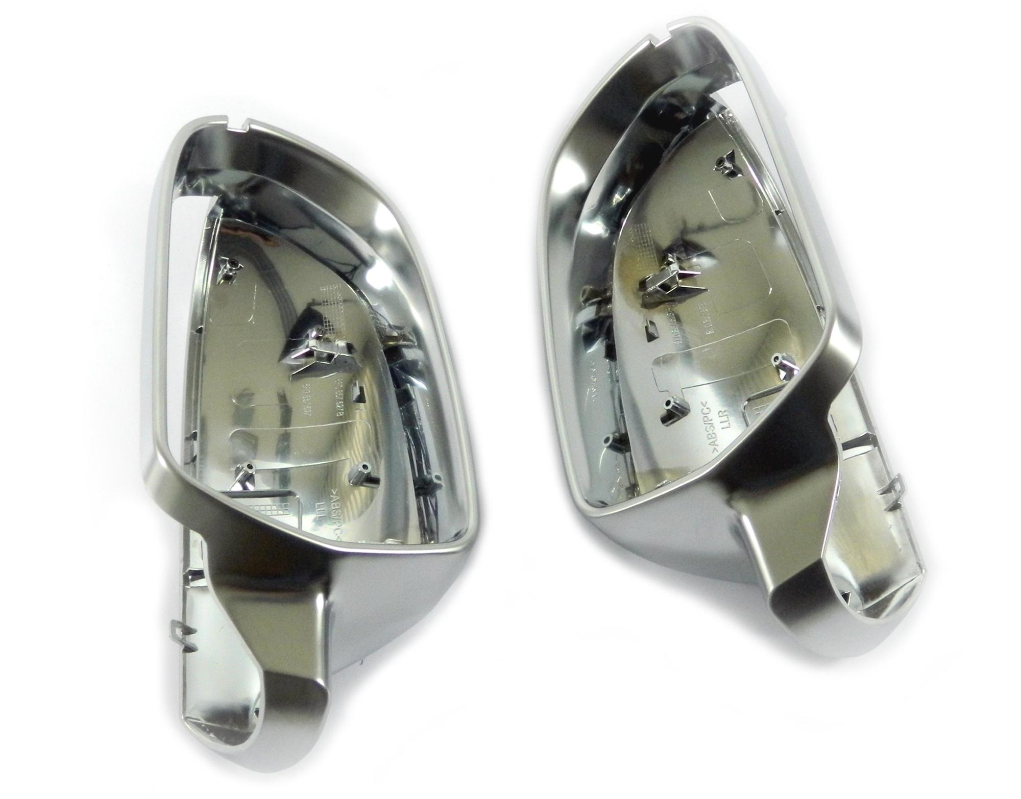 Aluminium Style Spiegelkappen - Audi A5, S5 8T ohne Spurwechselassistent