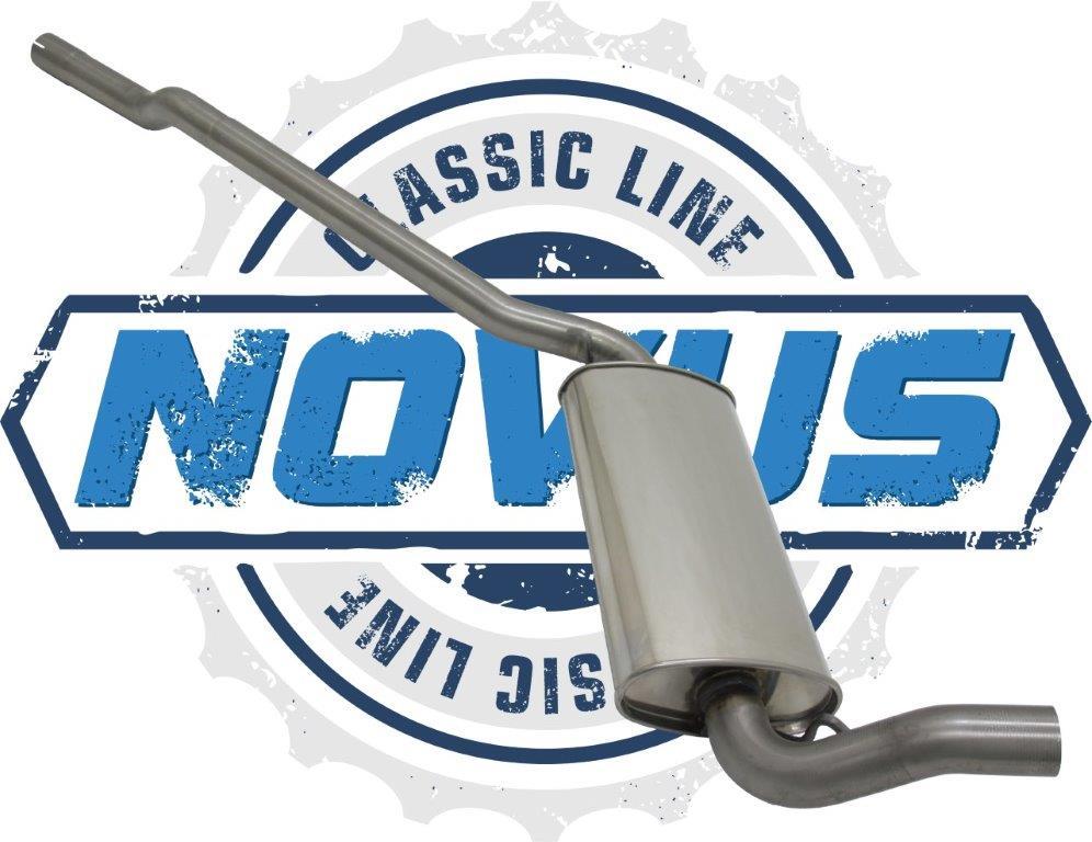 Novus Classic Line Audi 80, 90 Edelstahl Vorschalldämpfer 85 - 100 KW MIT E-PRÜFZEICHEN - EINTRAGUNGSFREI