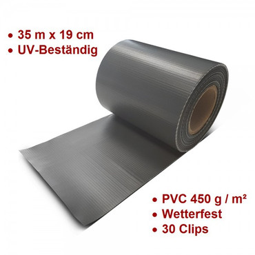 PVC Zaun Sichtschutz Sichtschutzfolie anthrazit – Bild 1