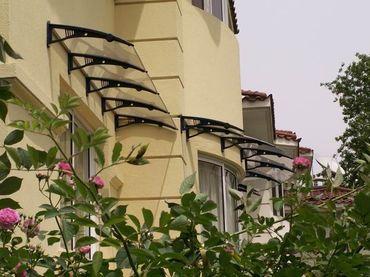 Vordach Überdachung Haustürdach Türdach 1,4 x 0,9m – Bild 3