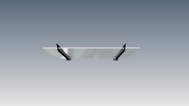 Vordachglas Glasplatte 2,6 m VDGP – Bild 3