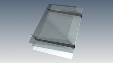 Vordachträger für Glasvordach VDTA – Bild 7
