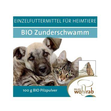 Zunderschwamm Pulver Bio Vitalpilz Einzelfuttermittel Heimtiere 100 g