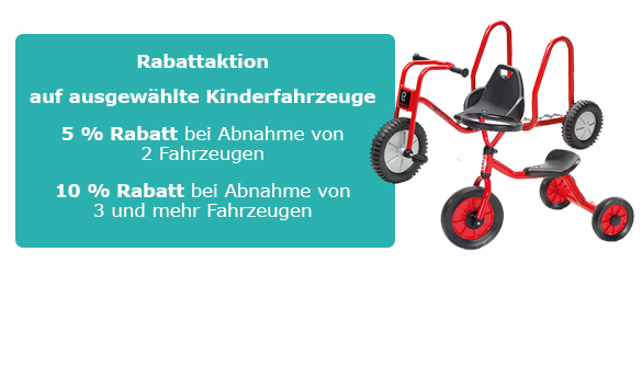 Rabattaktion Kinderfahrzeuge