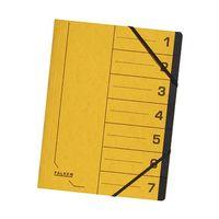 Ordnungsmappe DIN A4 7 Fächer Karton gelb