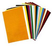 Bastelfilz 20x30 cm, 24 Bogen in 10 Farben