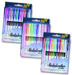 Gelschreiber, 10 Stifte in 10 Farben