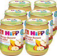 HIPP Mango-Banane in Apfel (6. Monat), 6x190g
