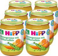 HIPP Buttergemüse mit Süßkartoffeln (6. Monat), 6x190g