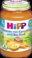 HIPP Karotte, Kartoffel und Bio-Rind (4. Monat), 6x190g