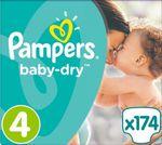 Pampers Baby Dry Gr. 4 (9-14 Kg), 174 Windeln
