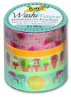 Washi Tape, Motiv Tropical, 4-er Set – Bild 1