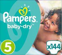 Pampers Baby Dry Gr. 5 (11-16 kg), Vorratspack (4 Kartons) – Bild 1