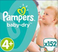 Pampers Baby Dry Gr. 4+ (10-15 kg), Vorratspack (4 Kartons) – Bild 1