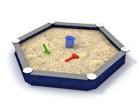 Sandkasten, sechseckig, blau – Bild 1