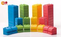 Q-Blocks Softbausteine, 64-tlg. mit Tasche – Bild 1