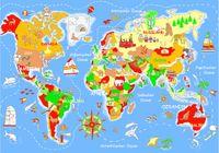 Spielteppich Welt, 140x200 cm – Bild 1