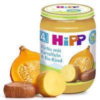 Hipp Kürbis mit Kartoffel und Bio Rind (nach 4. Monat), 6x190g