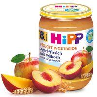 Hipp Apfel, Pfirsich, Vollkorn (ab 8. Monat), 6x190g