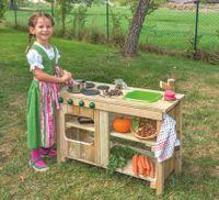 Outdoor-Kiga-Küche mit grünem Spülbecken – Bild 2