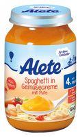 Alete Spaghetti, Gemüsecreme, Pute (5. Mon.), 6x190g – Bild 1