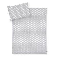 Bettwäsche Sterne grau, 100x135 cm – Bild 1