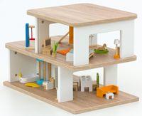 EDUCASA Aufsatz Puppenhaus weiß/ Eiche – Bild 1