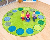 Riesen-Rundteppich - Dots, rund, 300 cm – Bild 2