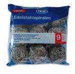 Edelstahl-Putzspirale/Topfreiniger (40g), 9 Stk.