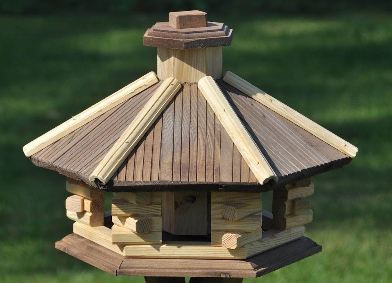 vogelhaus 6 eckig mit futtersilo haus garten wildv gel futterh user. Black Bedroom Furniture Sets. Home Design Ideas
