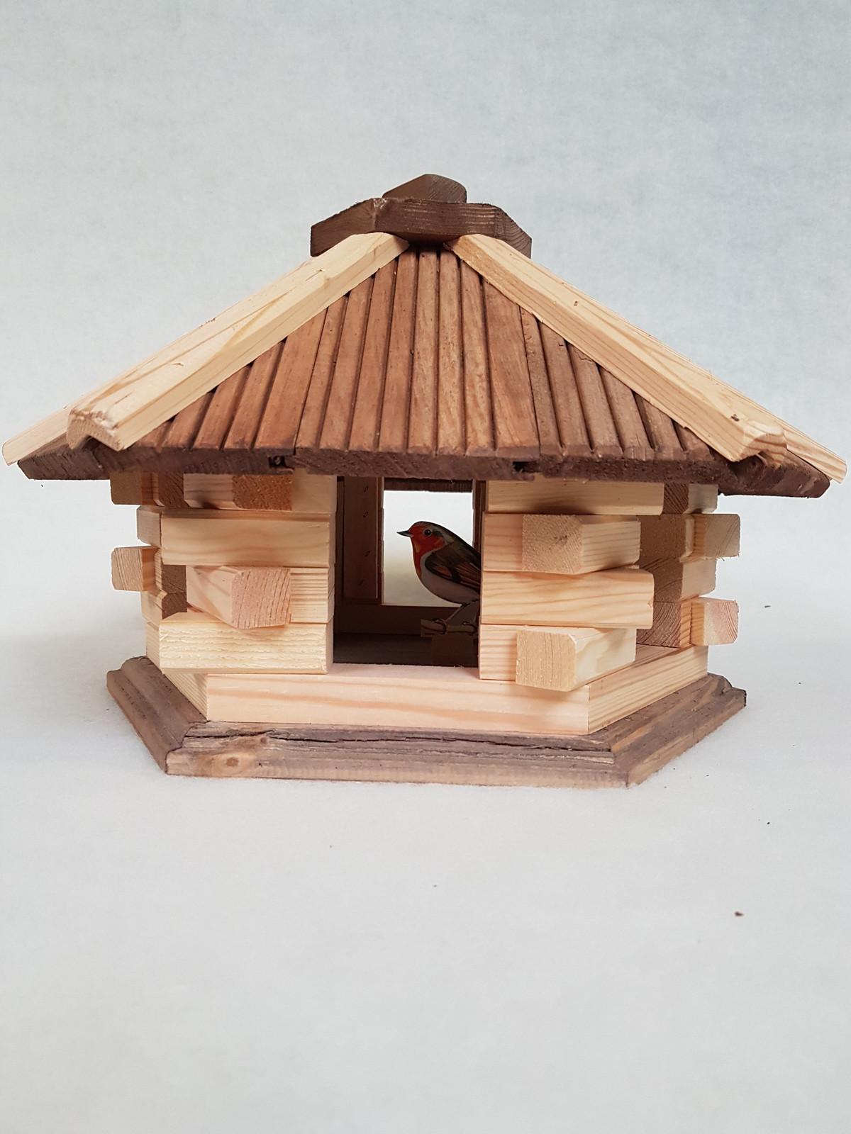 Vogelhaus 6-eckig ohne Futtersilo – Bild 5