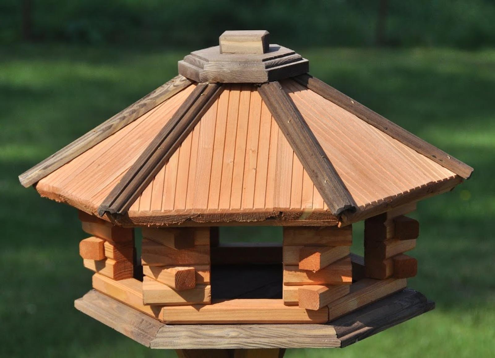 Vogelhaus 6-eckig ohne Futtersilo – Bild 2